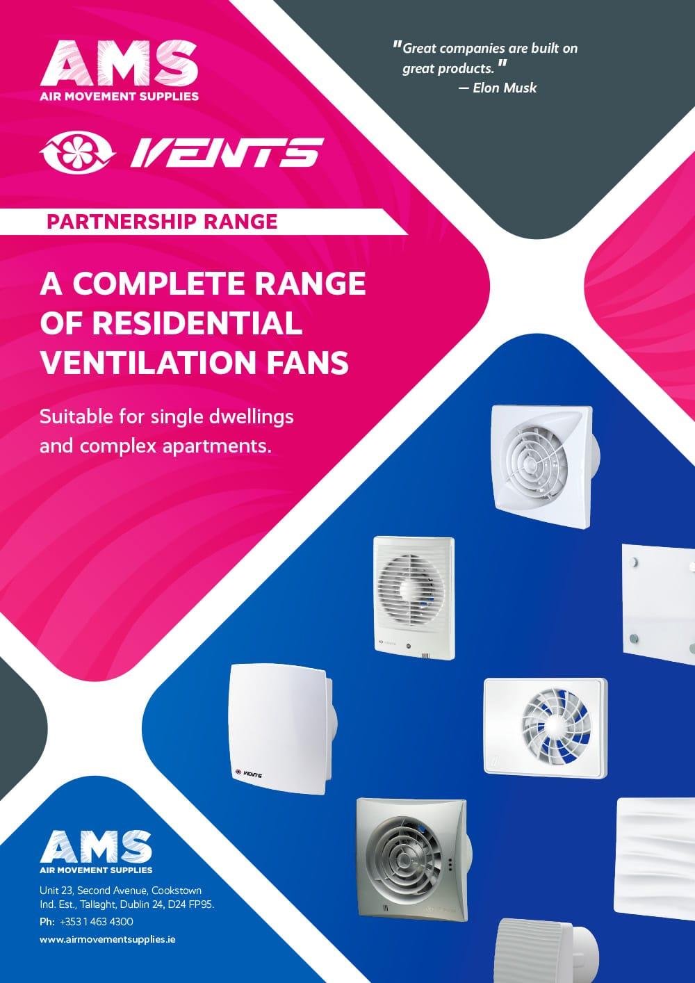 AMS Vents Partnership Range Domestic Ventilation