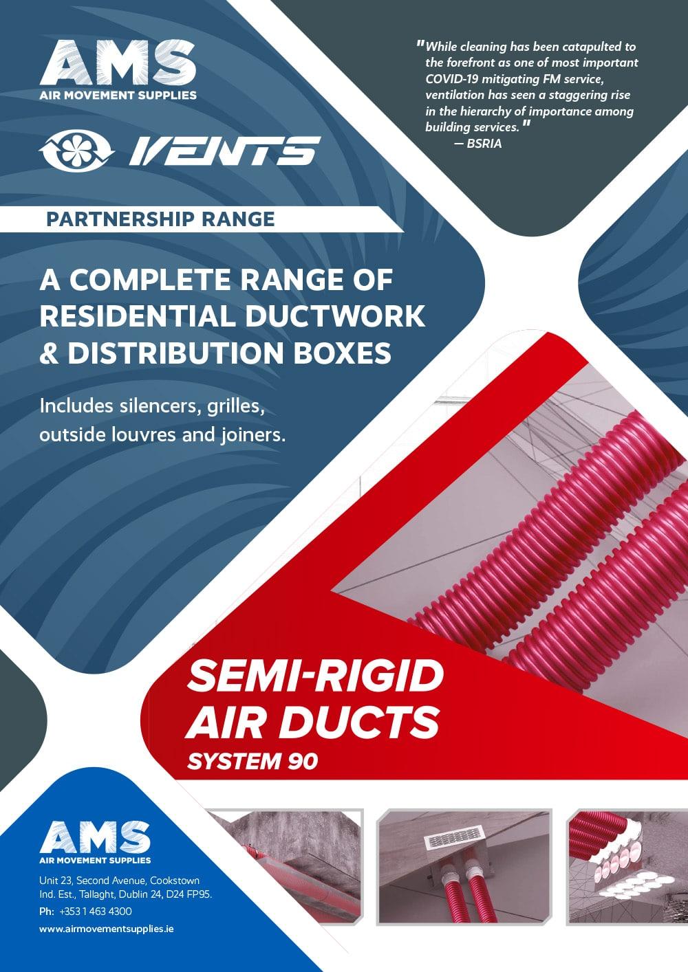 AMS Vents Partnership Range Ductwork Distribution