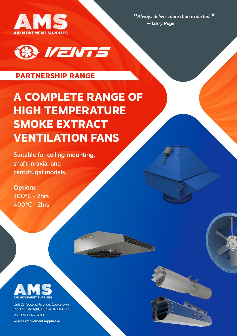 AMS Vents Partnership Range Smoke Extract Commercial
